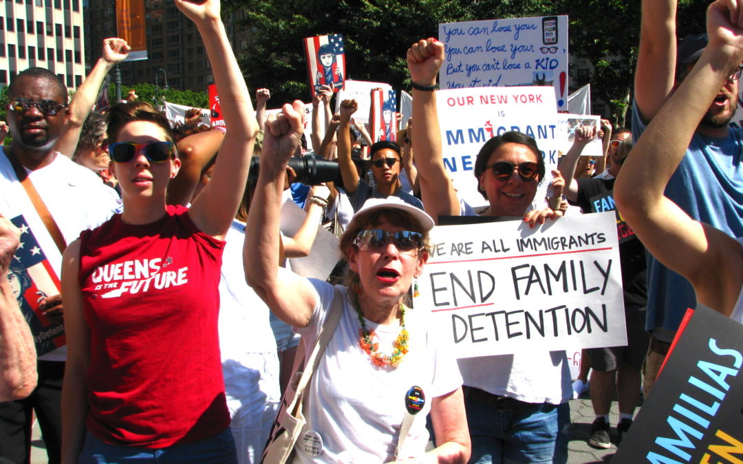 What We Saw at the #FamiliesBelongTogether Protest in NYC