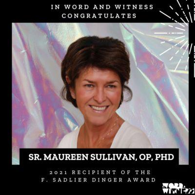 Sister Maureen Sullivan Receives 2021 F. Sadlier Dinger Award